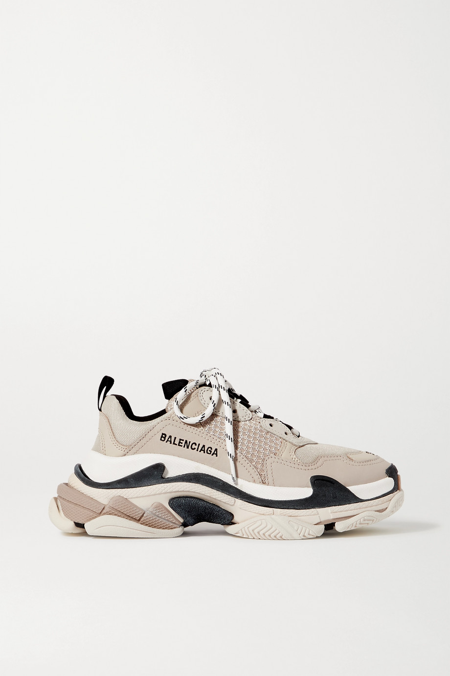 Balenciaga Triple S logo-embroidered leather and mesh sneakers