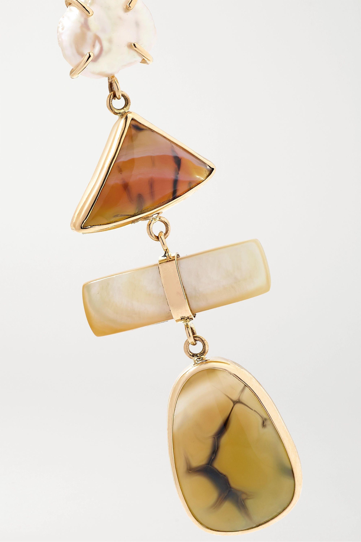 Melissa Joy Manning Boucles d'oreilles en or 14 carats et pierres multiples - NET SUSTAIN