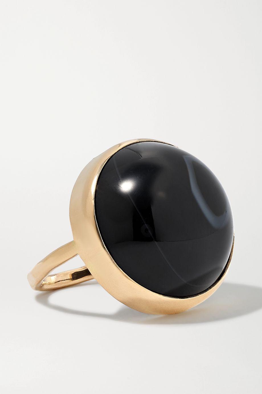 Melissa Joy Manning + NET SUSTAIN 14-karat gold agate ring
