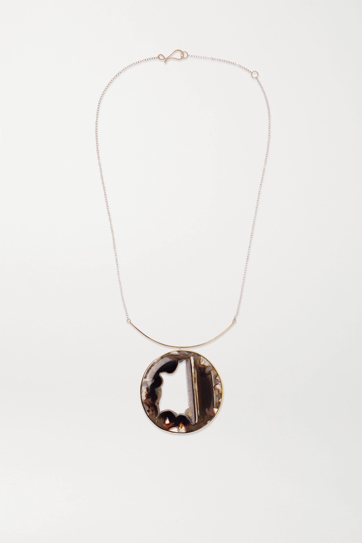 Melissa Joy Manning Collier en or 14 carats et agate - NET SUSTAIN