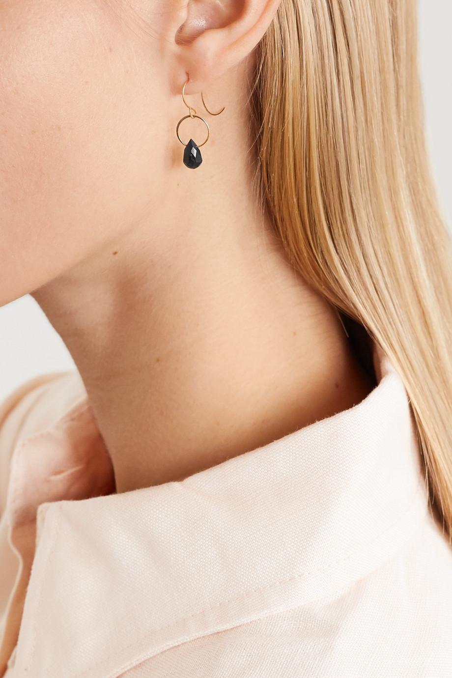 Melissa Joy Manning 14-karat gold onyx earrings