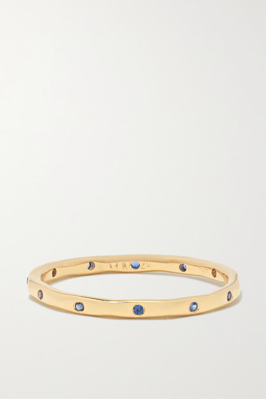 Melissa Joy Manning 14-karat gold sapphire ring