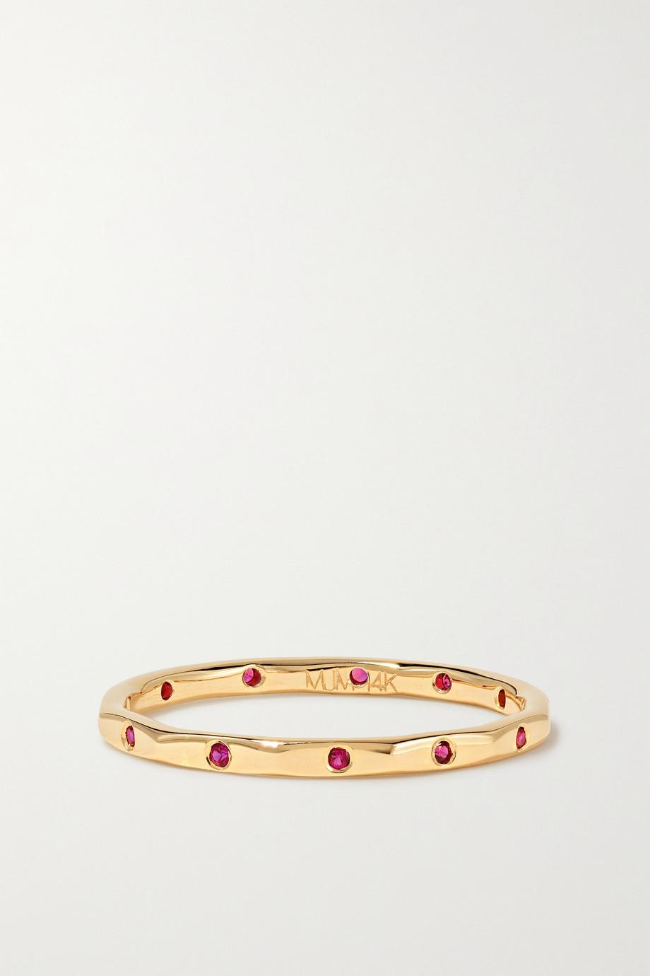Melissa Joy Manning 14-karat gold ruby ring