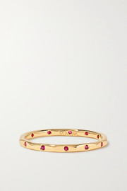 Melissa Joy Manning 14-karat gold ruby ring