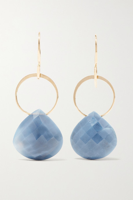 Gold 14-karat gold opal earrings | Melissa Joy Manning vEEmjA