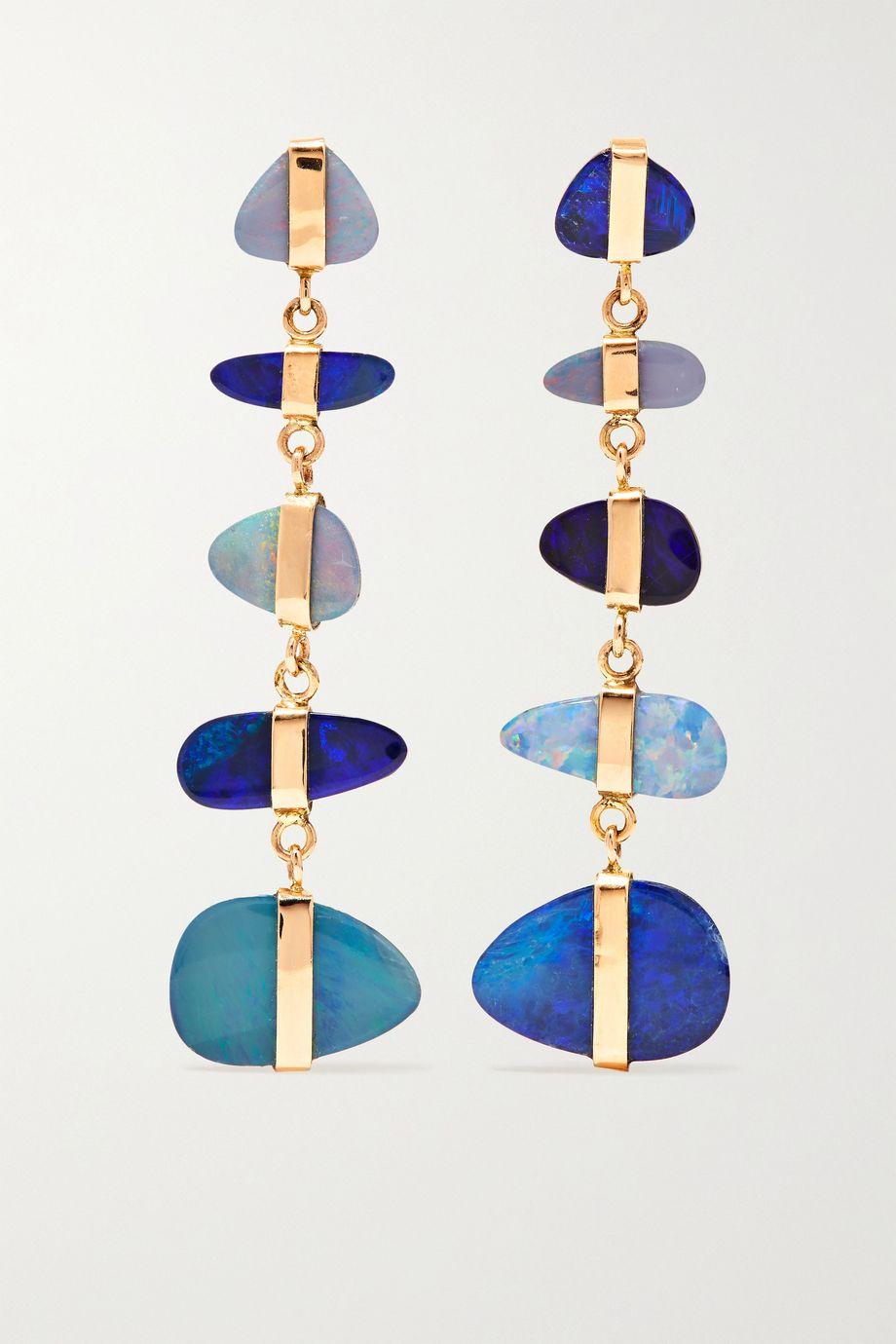Melissa Joy Manning Ohrringe aus 14Karat Gold mit Opalen