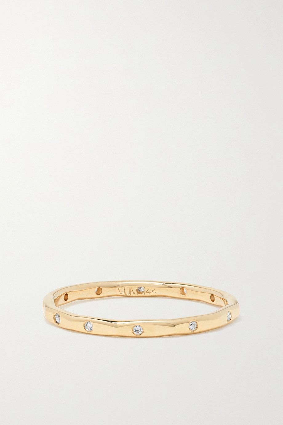 Melissa Joy Manning Ring aus 14 Karat Gold mit Diamanten