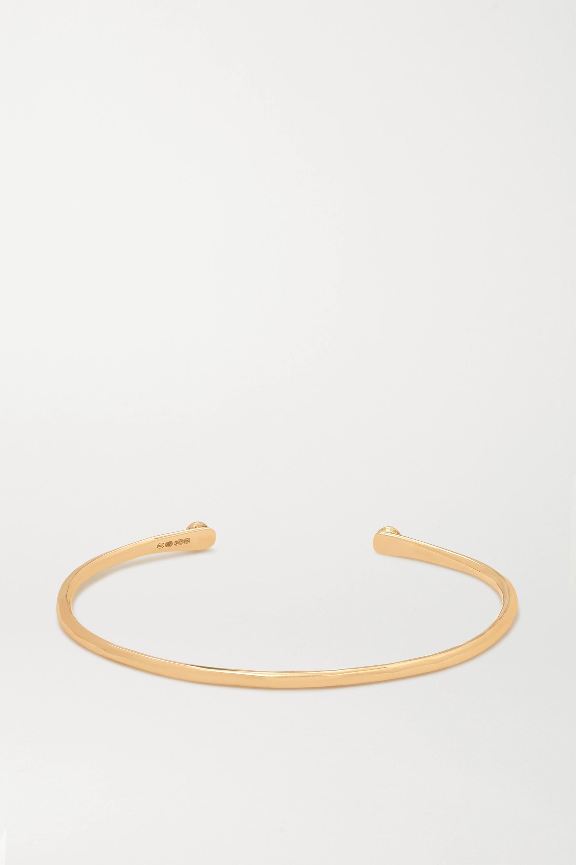 Melissa Joy Manning + NET SUSTAIN Armspange aus 14Karat Gold mit Diamanten