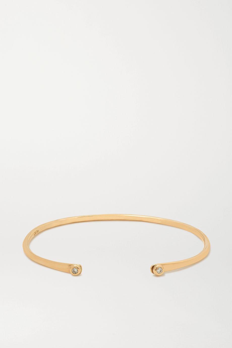 Melissa Joy Manning + NET SUSTAIN 14-karat gold diamond cuff