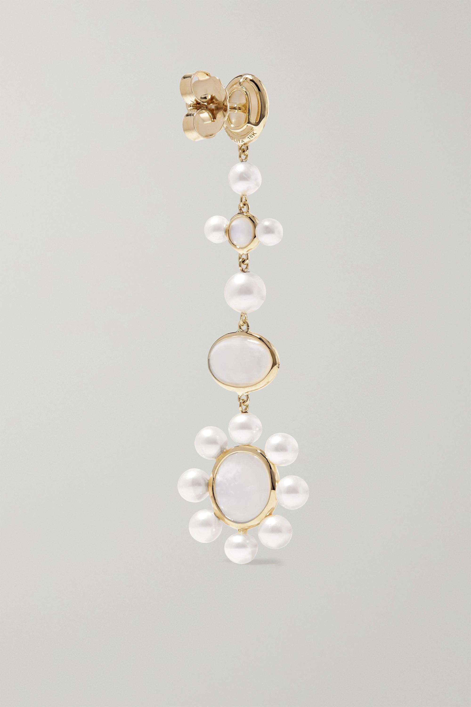 Ippolita Nova medium 18-karat green gold mother-of-pearl earrings