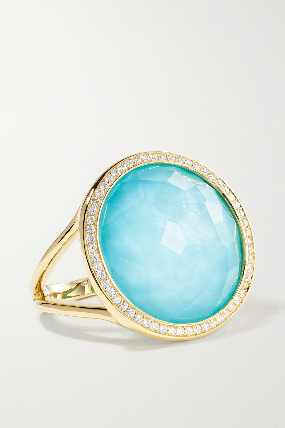 Ippolita Lollipop 18-karat green gold multi-stone doublet ring
