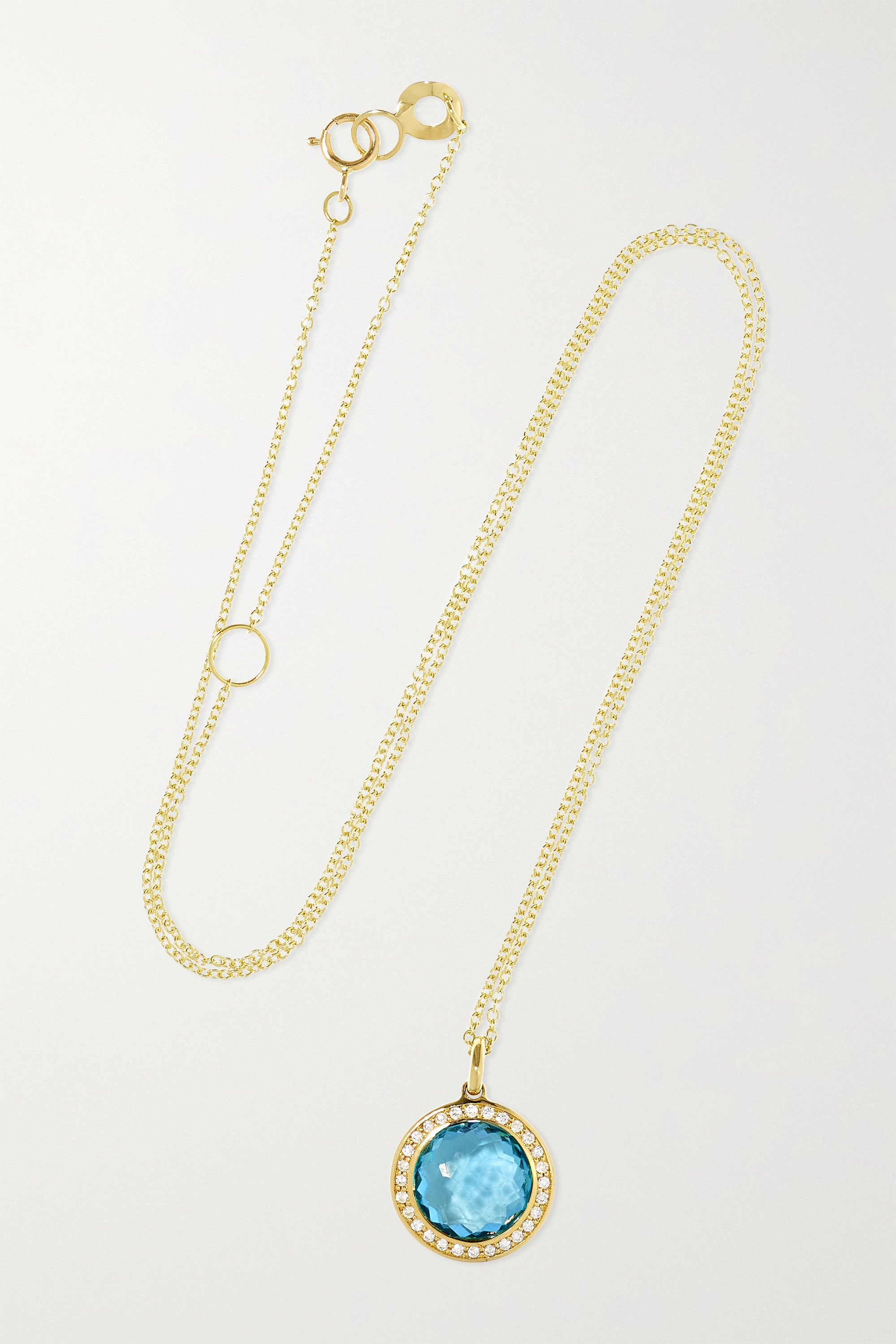 Ippolita Lollipop 18-karat green gold, topaz and diamond necklace