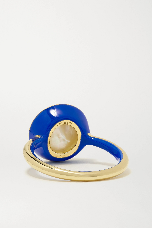 Ippolita Lollipop Carnevale 18-karat green gold, ceramic and multi-stone doublet ring