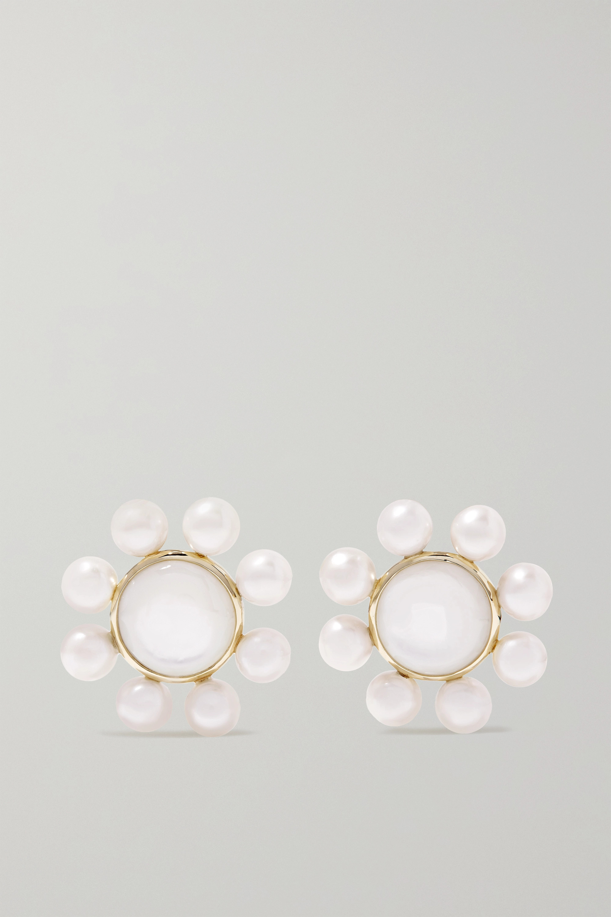 Ippolita Nova 18-karat green gold pearl earrings