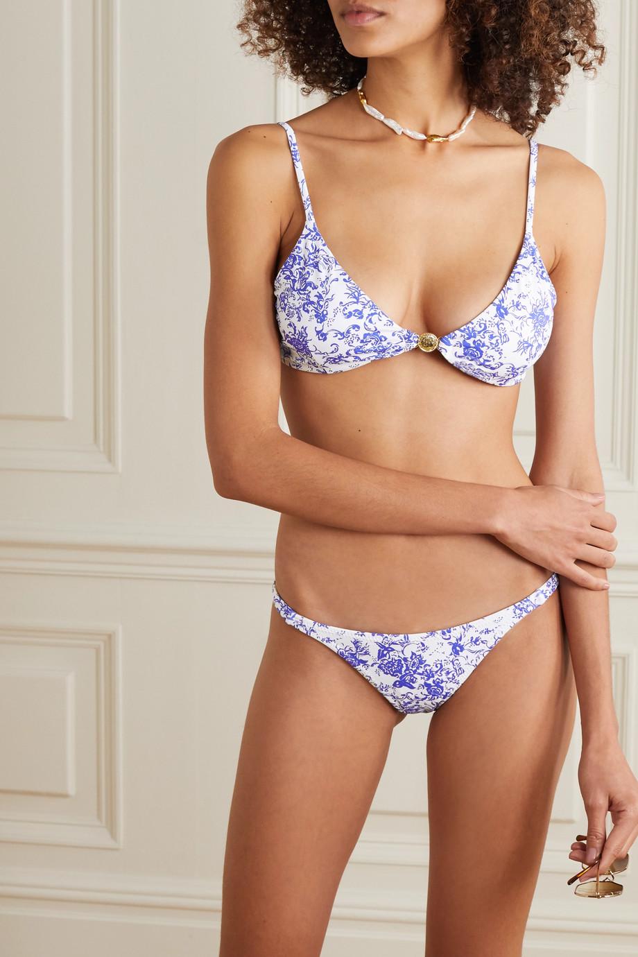 Caroline Constas Mykela printed bikini briefs