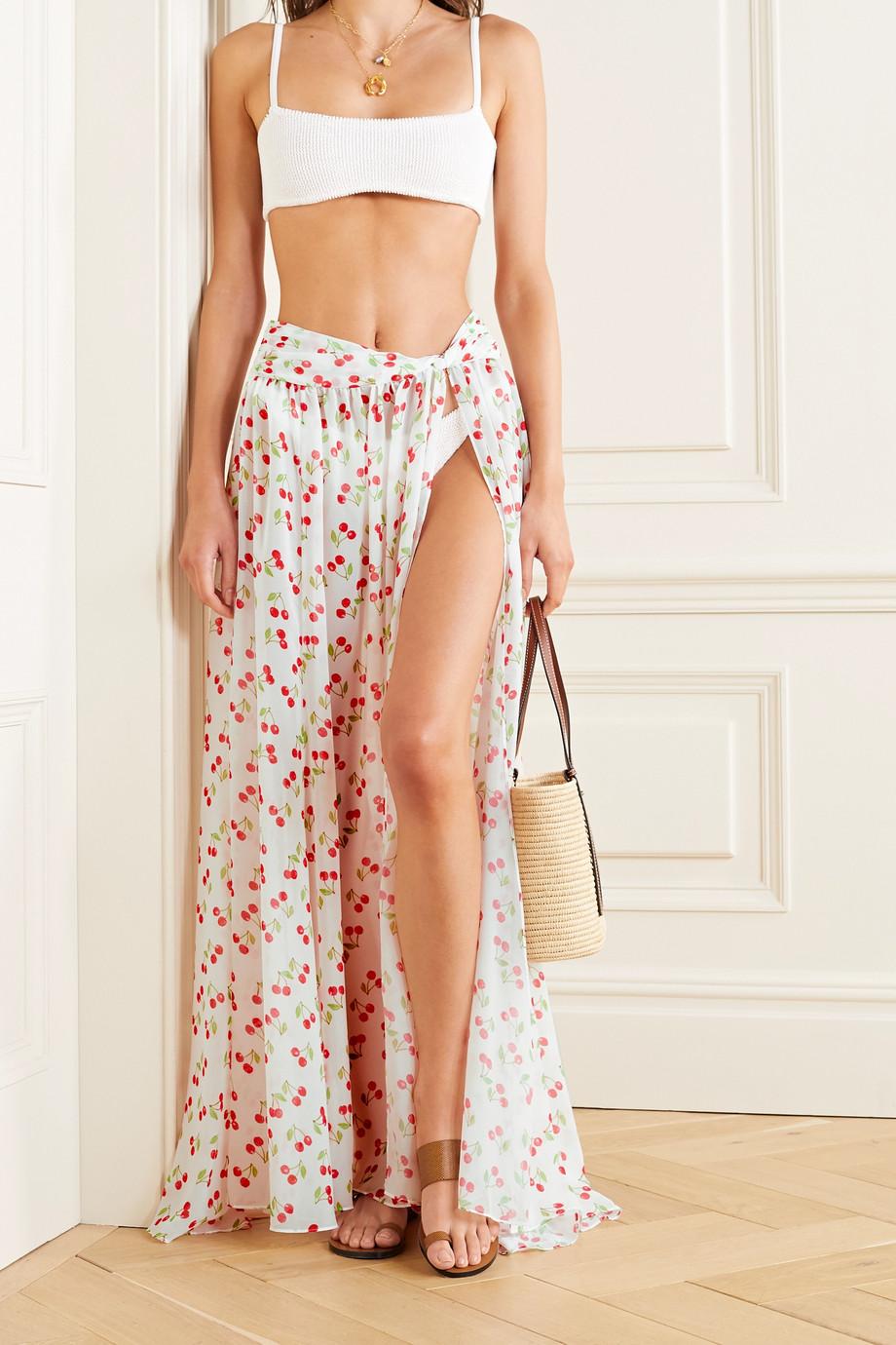 Caroline Constas Hera printed chiffon maxi skirt