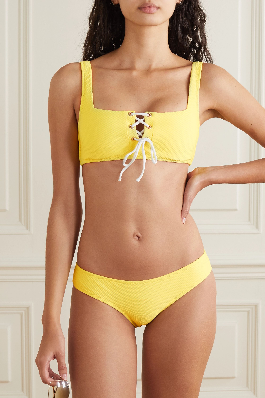 Heidi Klein Culotte de bikini en crépon Cancun