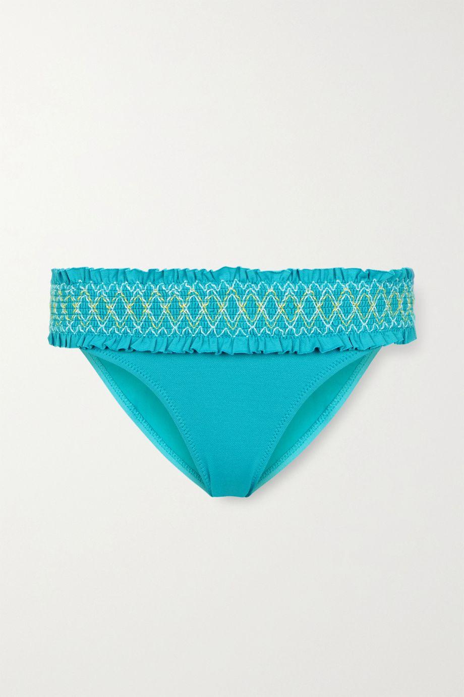 Heidi Klein Aruba Bikini-Höschen mit Raffungen