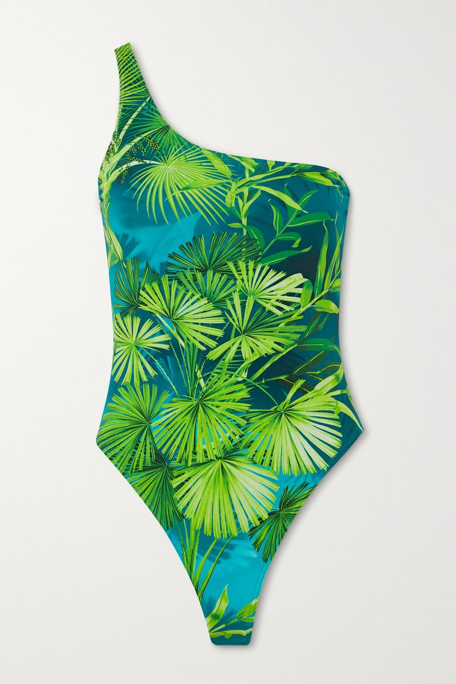 Versace One-shoulder printed swimsuit