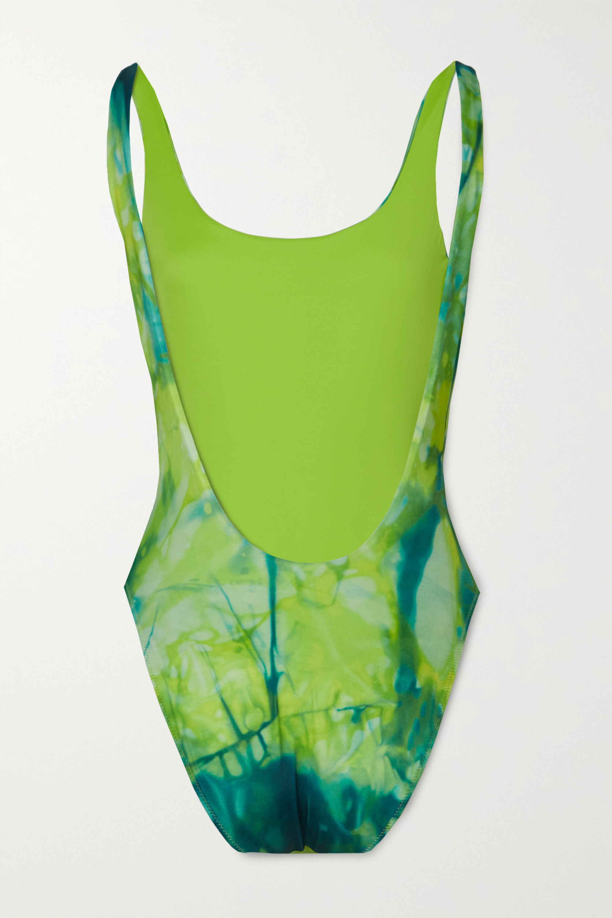 Versace Printed tie-dyed swimsuit
