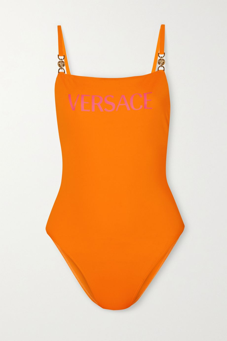 Versace Embellished printed swimsuit