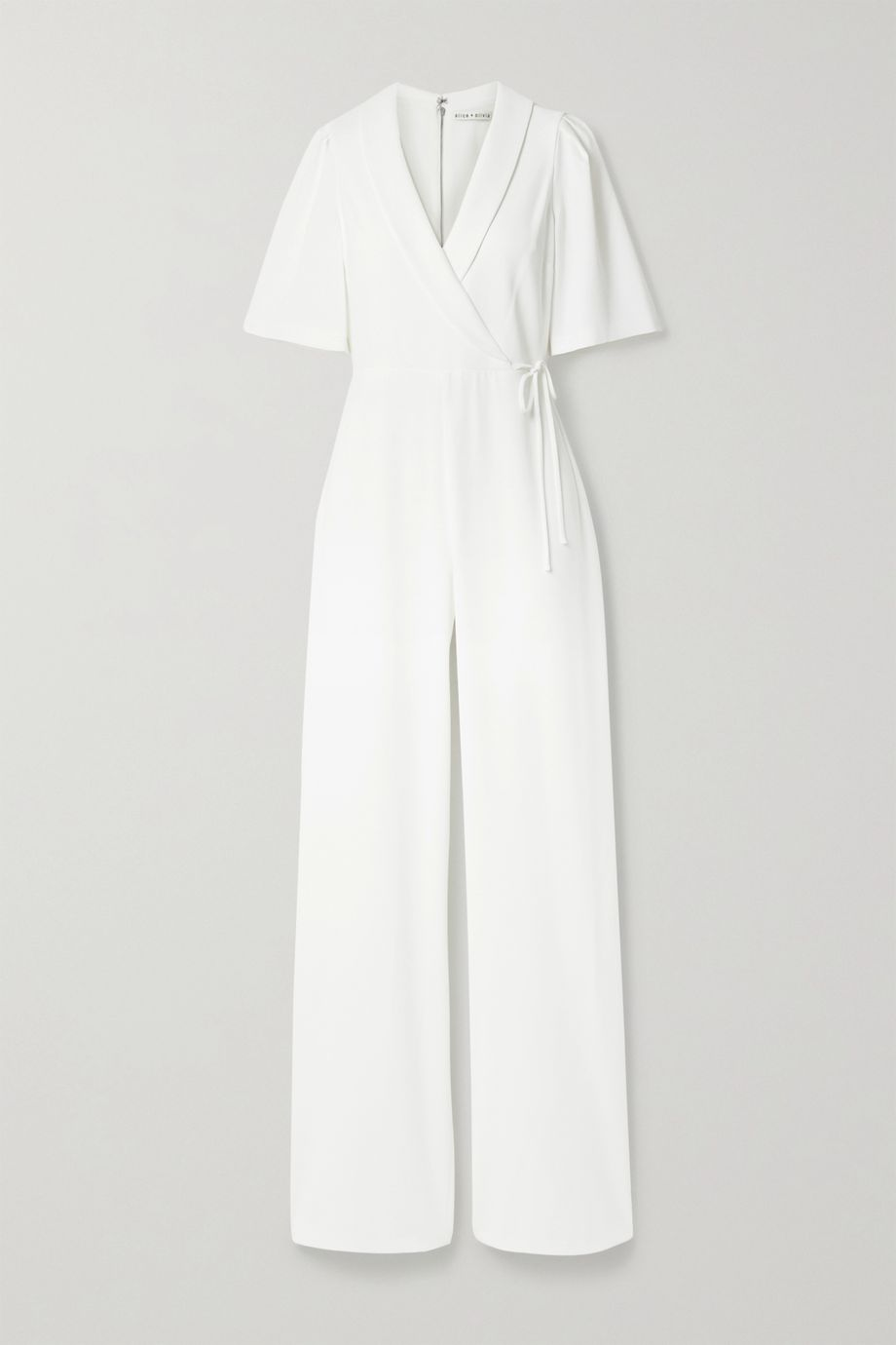 Alice + Olivia Luana wrap-effect stretch-crepe jumpsuit