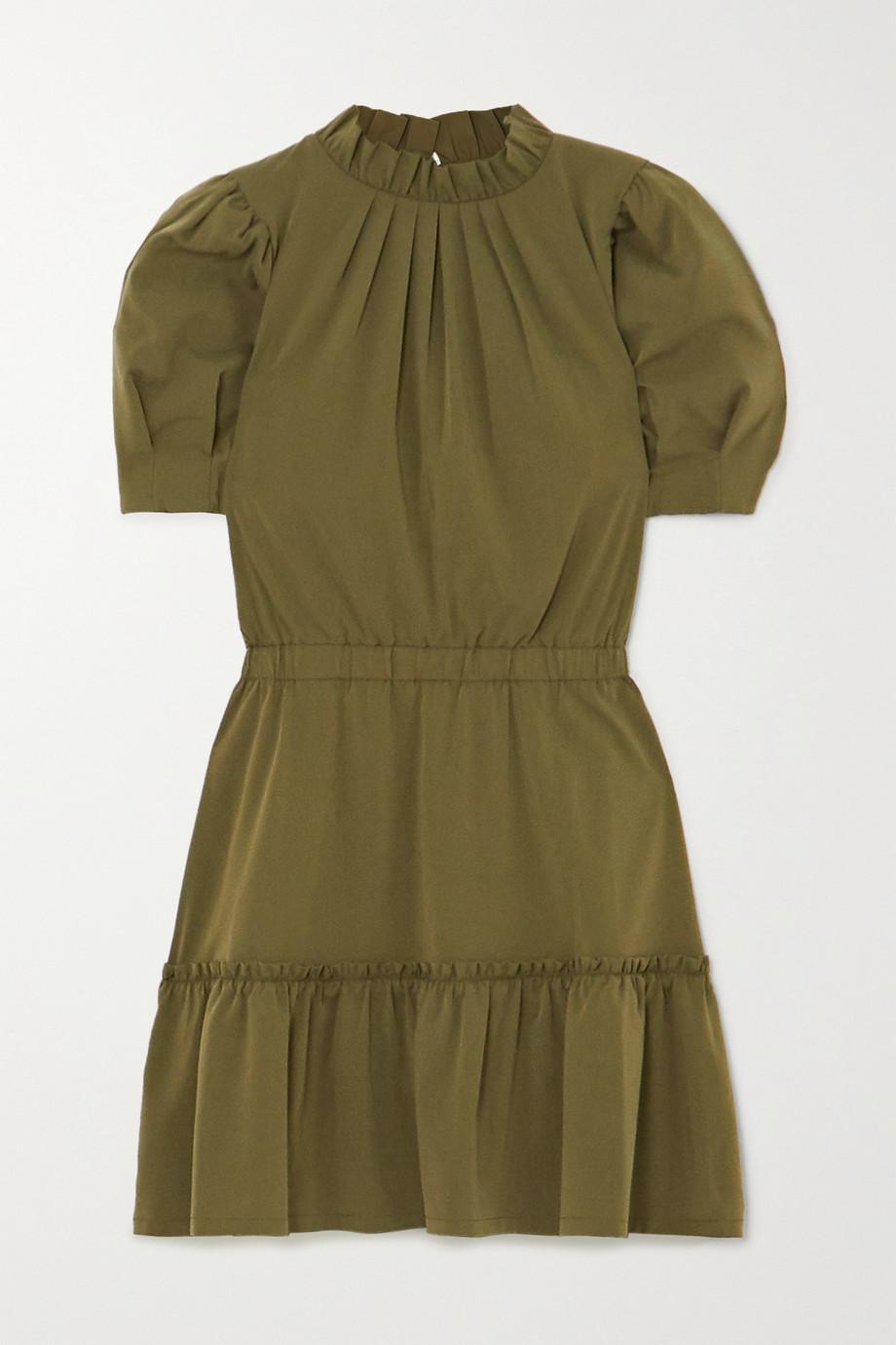 Alice + Olivia Mini-robe en modal mélangé à volants Vida