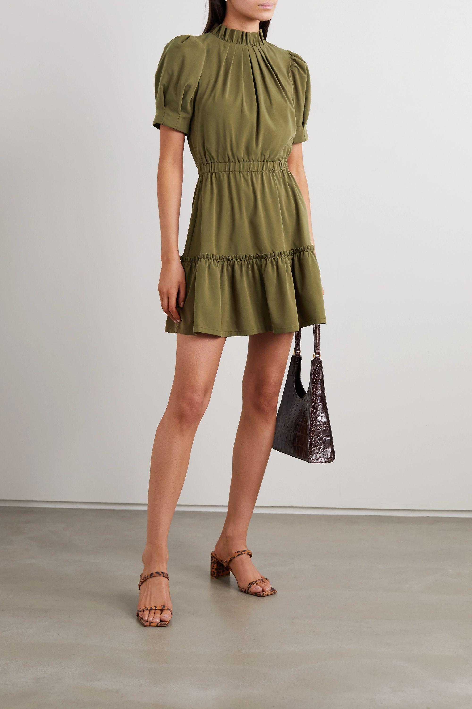 Alice + Olivia Vida ruffled modal-blend mini dress