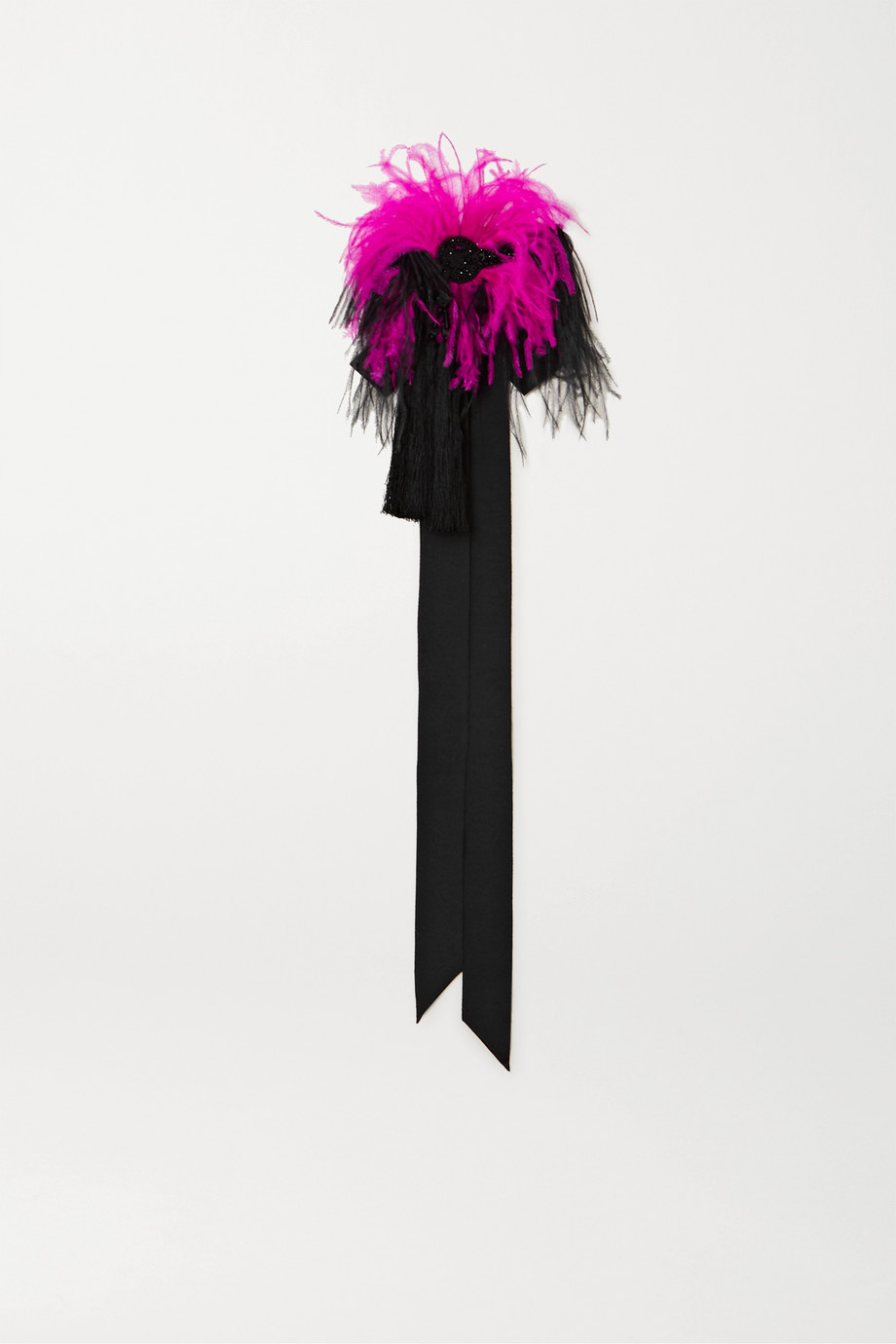 Dries Van Noten Embellished feather choker