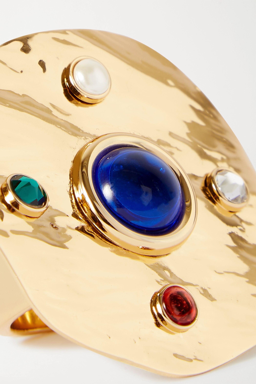 Dries Van Noten Gold-tone multi-stone ring