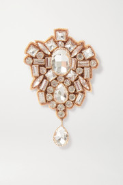 Dries Van Noten + Christian Lacroix gold-tone crystal brooch
