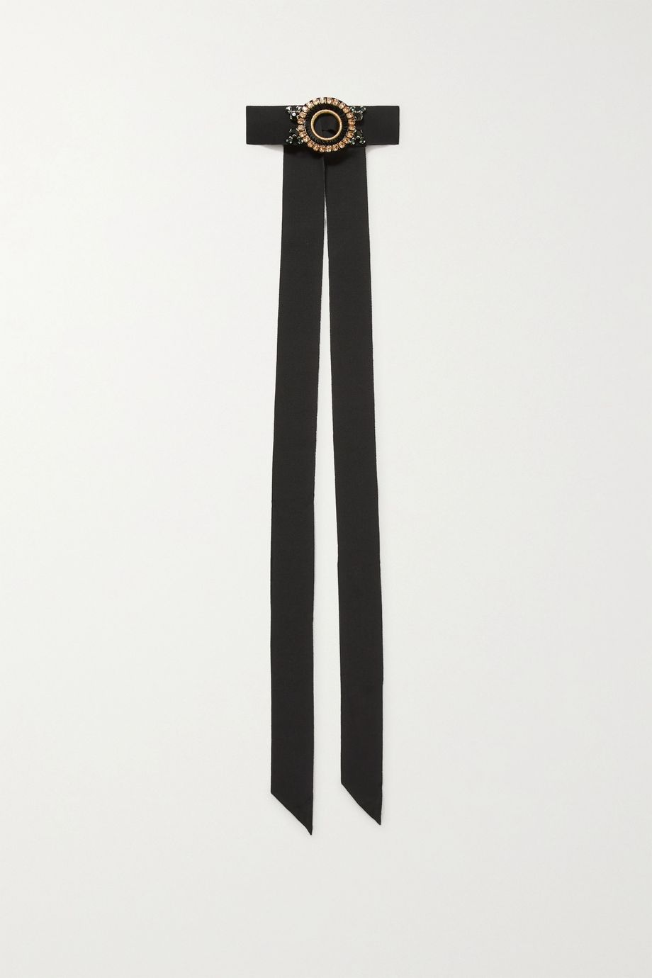 Dries Van Noten Embellished grosgrain choker