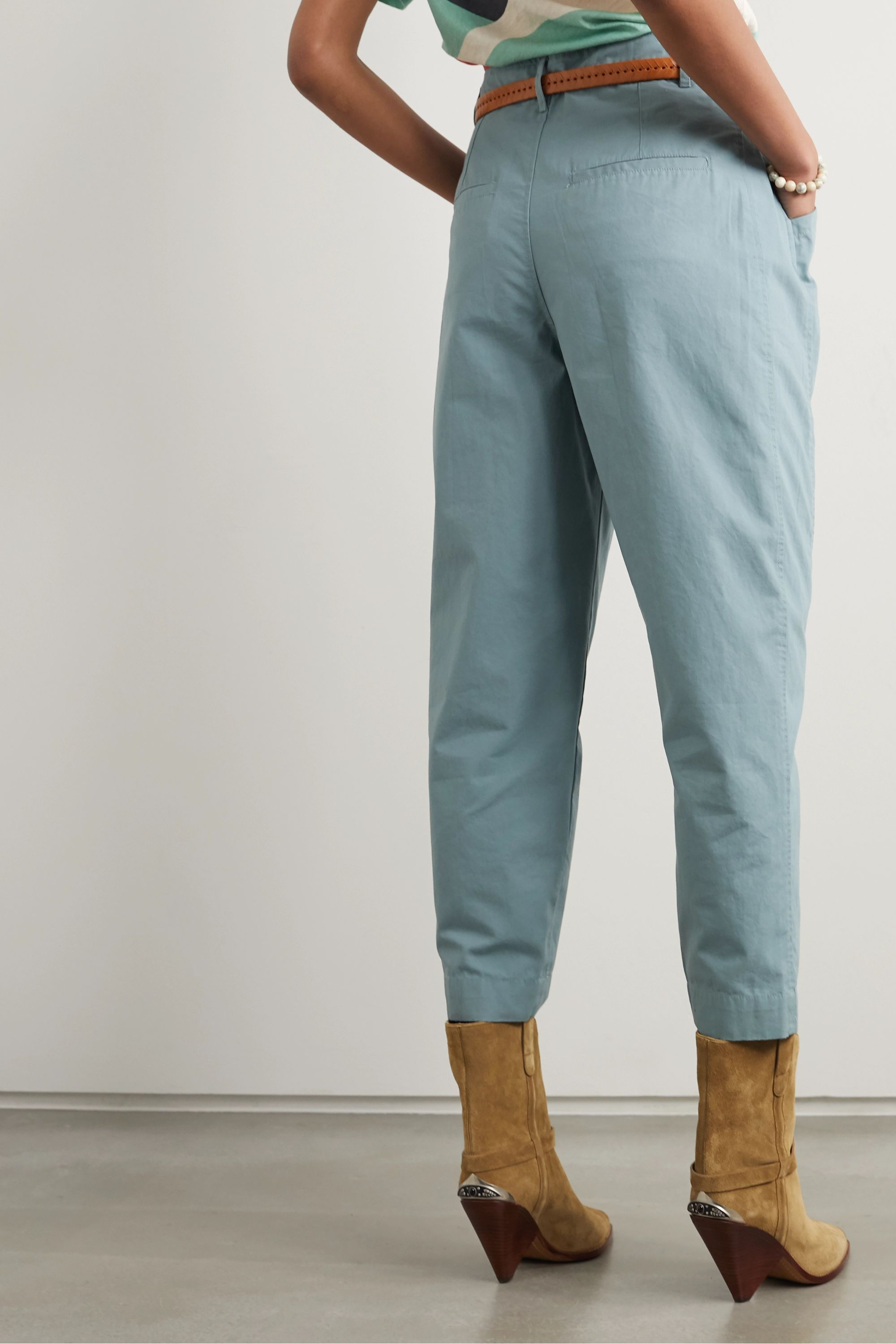 Isabel Marant Gubaia cropped cotton tapered pants