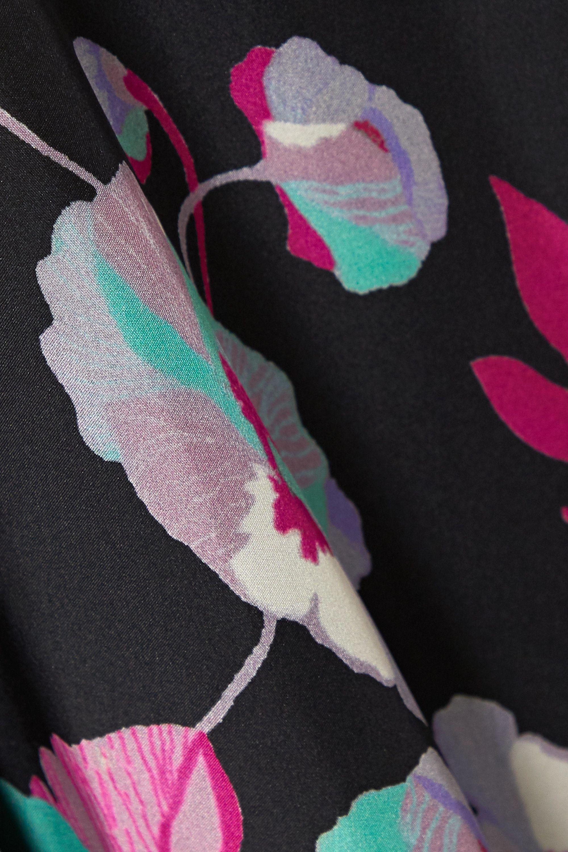 Isabel Marant Robe midi dos nu en crêpe de Chine de soie à imprimé fleuri Raizama