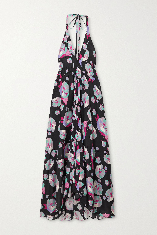 Isabel Marant Raizama floral-print silk crepe de chine halterneck midi dress
