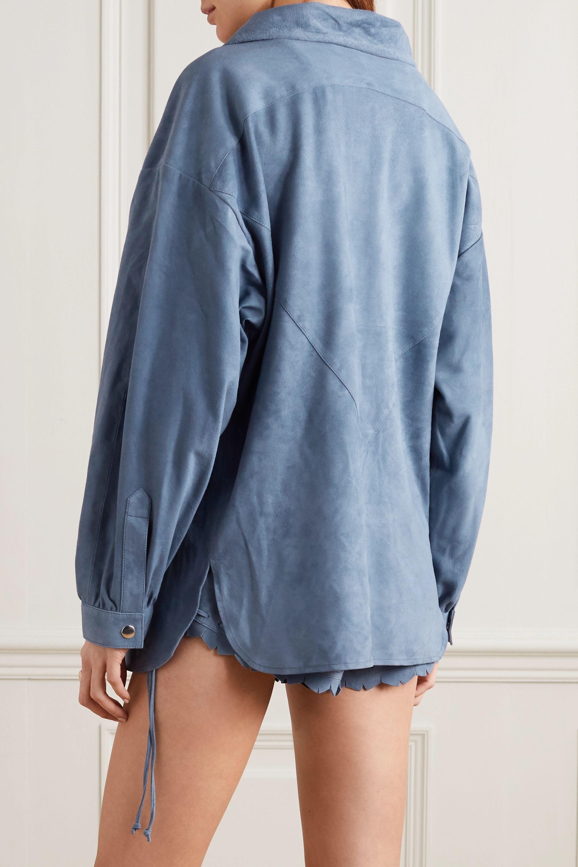 Isabel Marant Alambari oversized suede shirt
