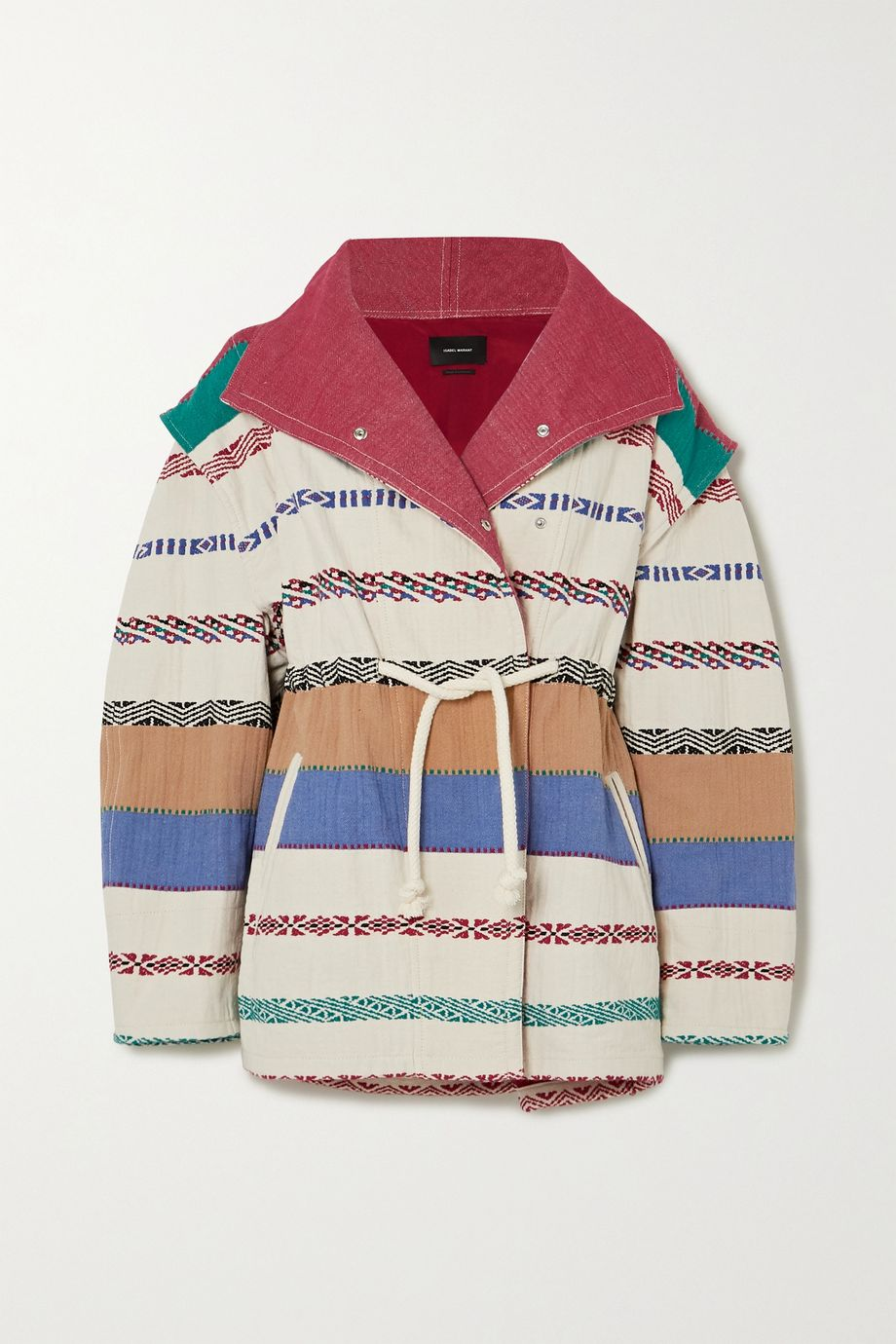 Isabel Marant Belia oversized embroidered cotton-blend canvas jacket