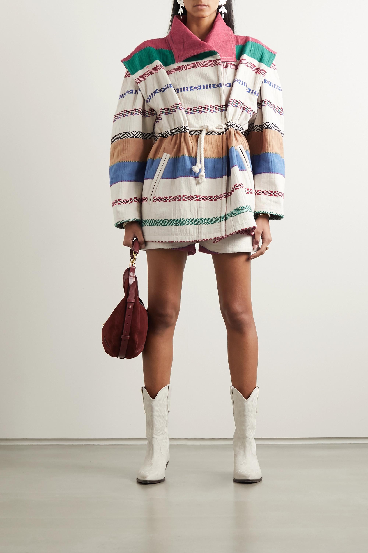Isabel Marant Belia oversized embroidered cotton-blend canvas jacket