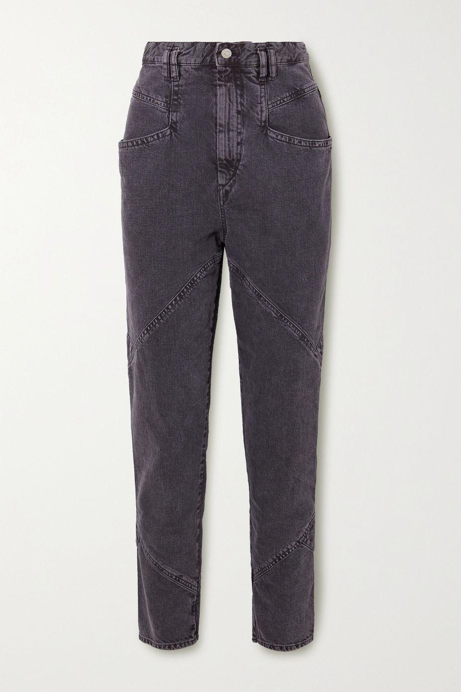 Isabel Marant Eloisa paneled acid-wash boyfriend jeans