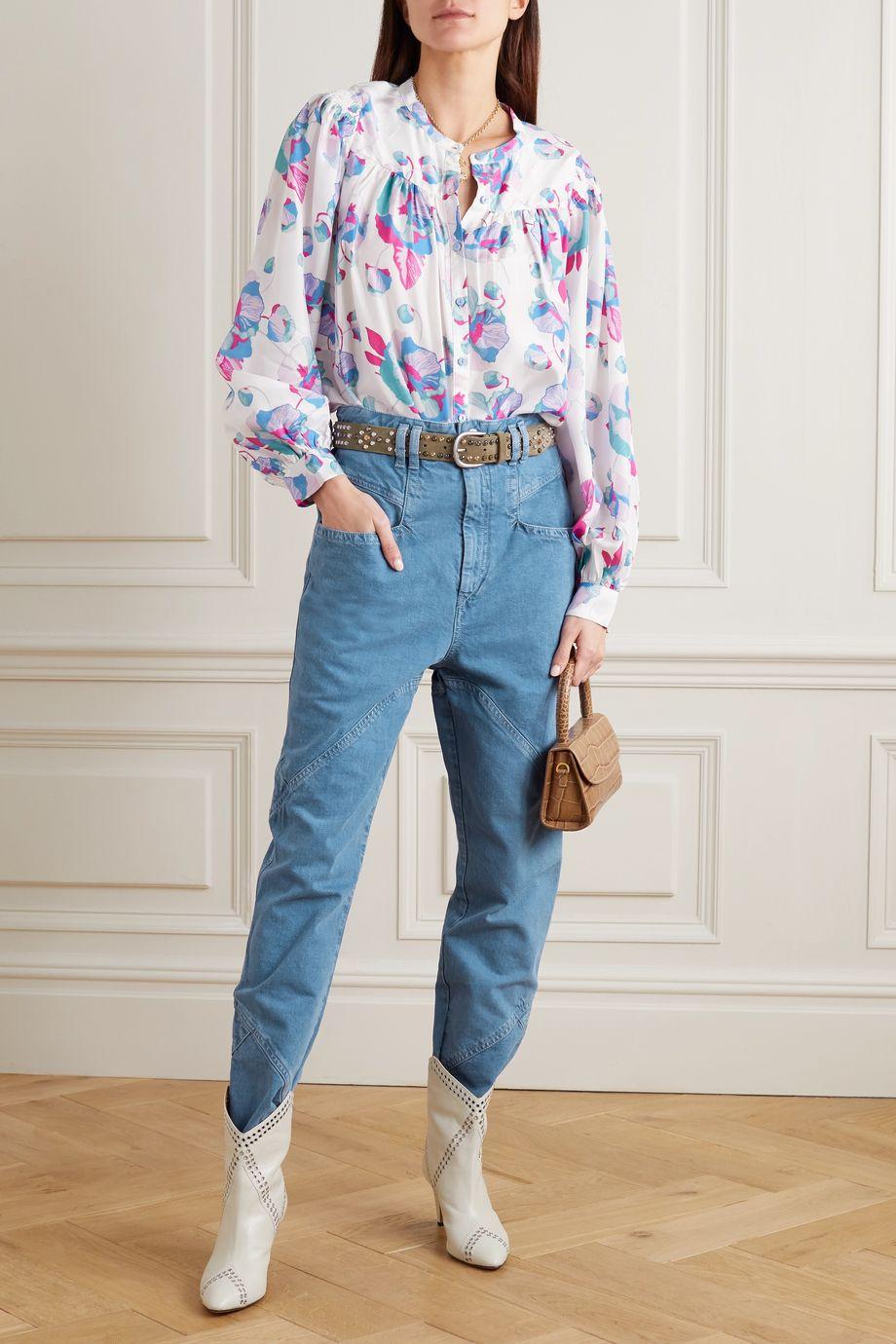 Isabel Marant Eloisa paneled boyfriend jeans