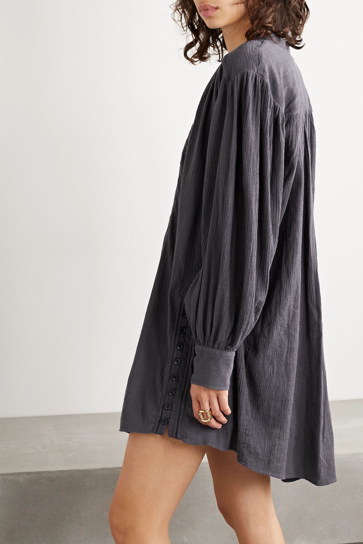 Isabel Marant Yacolt gathered crinkled cotton-voile mini dress