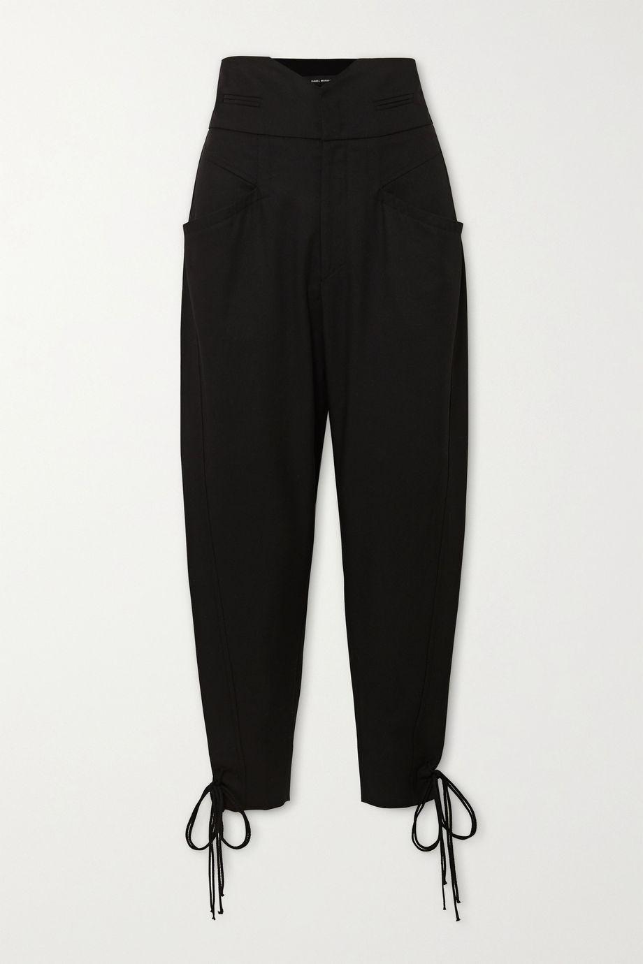 Isabel Marant Ubaia cotton-blend tapered pants