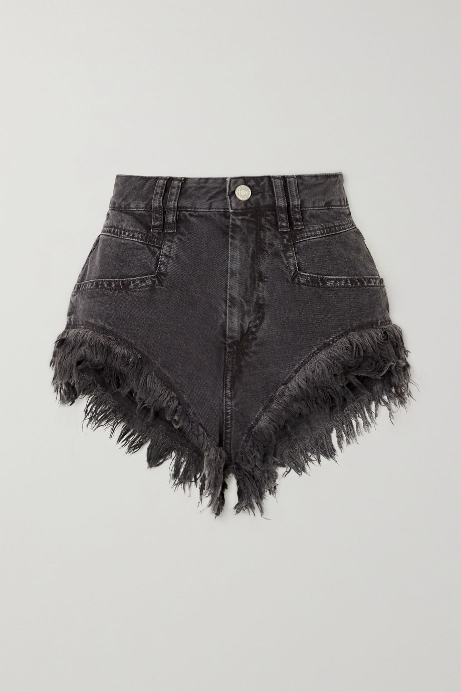 Isabel Marant Eneida frayed denim shorts