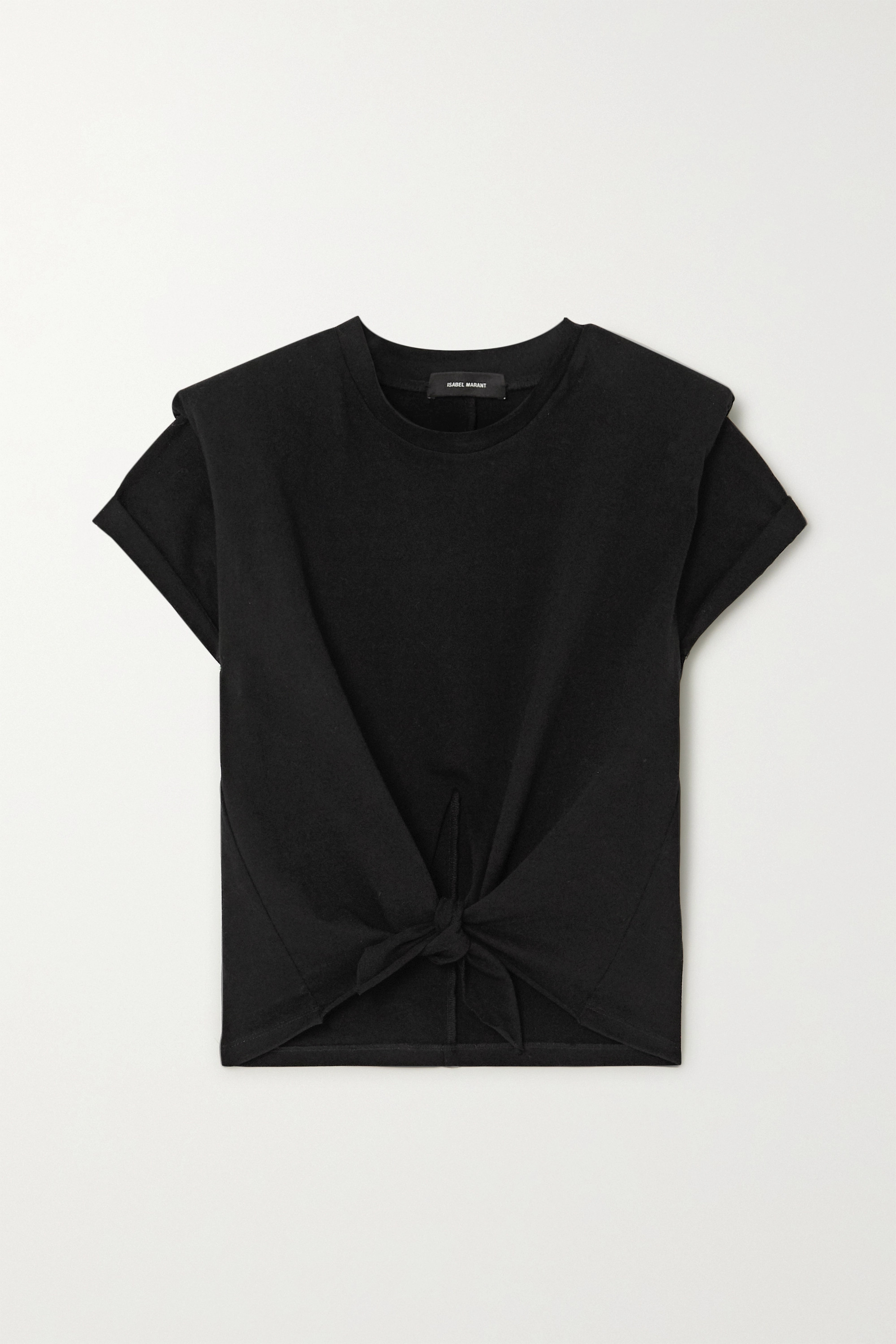 Isabel Marant Belita cropped tie-front cotton-jersey t-shirt
