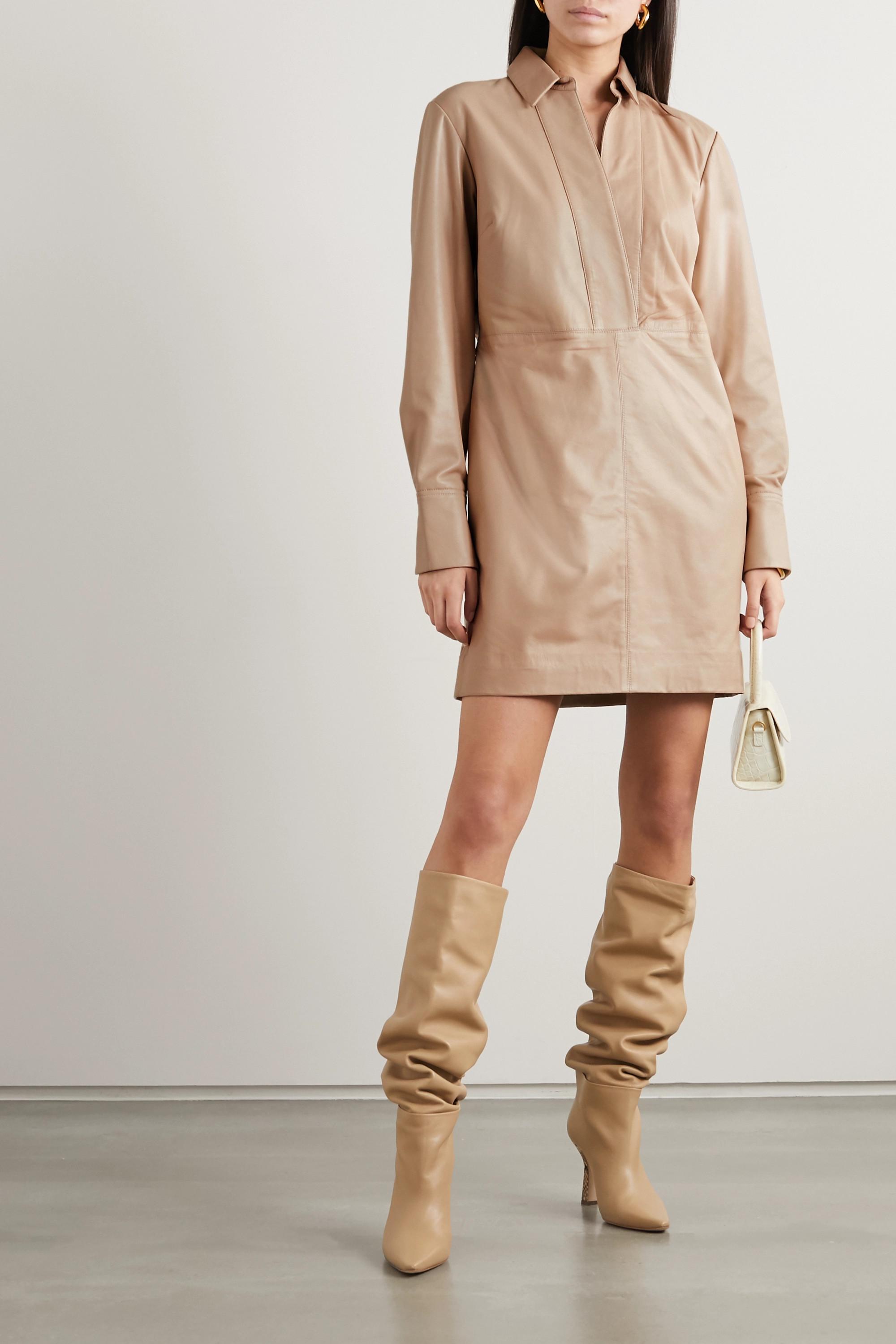 EQUIPMENT Riannon leather mini dress