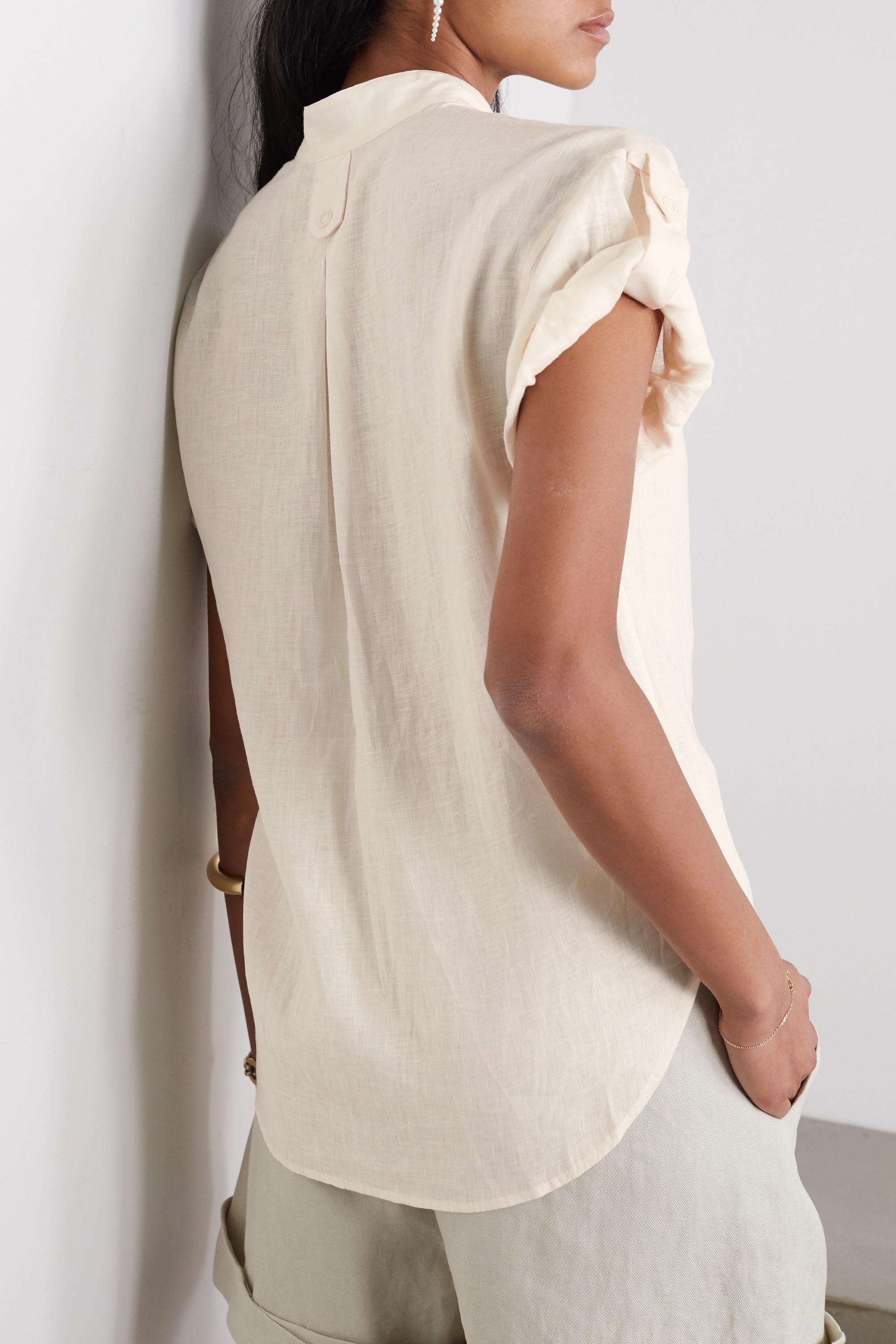 EQUIPMENT Drace linen shirt