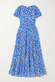 RIXO Tamara tiered floral-print cotton-blend maxi dress
