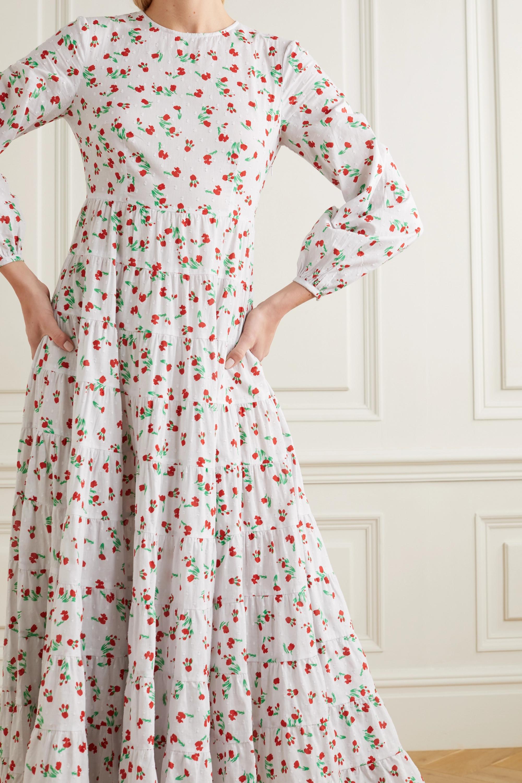 RIXO Pip tiered floral-print fil coupé cotton maxi dress