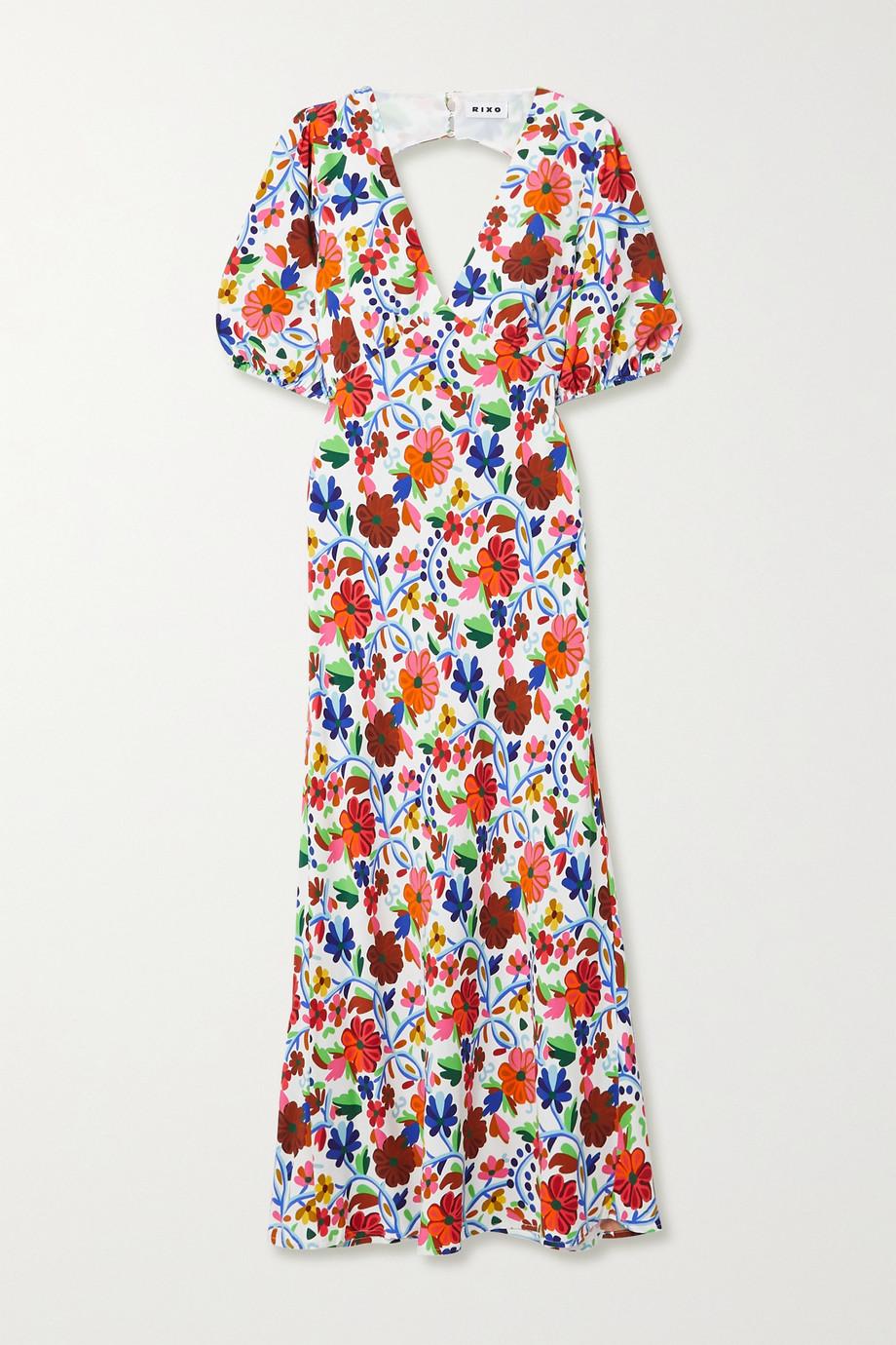 RIXO Steph floral-print crepe de chine midi dress