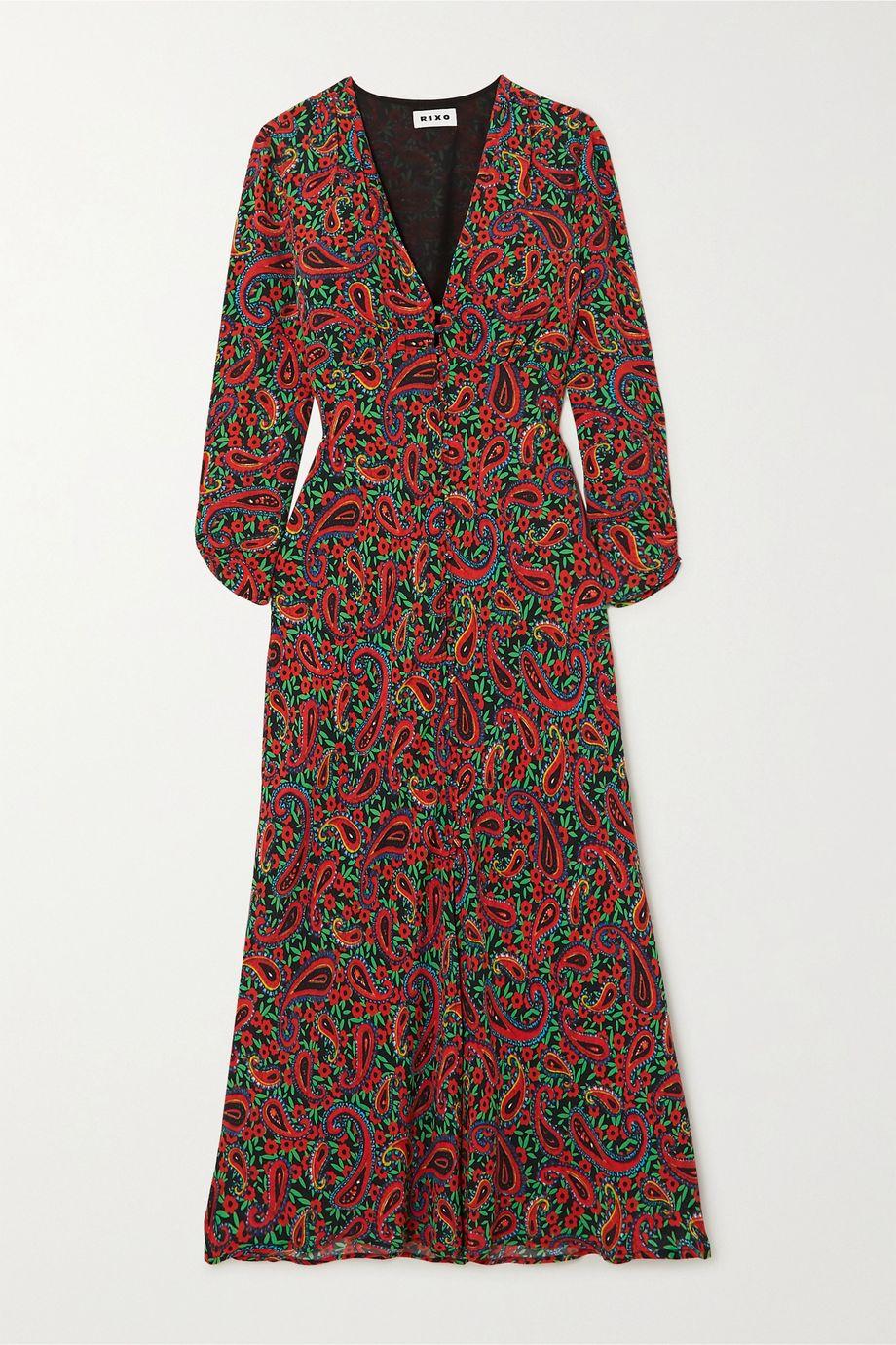 RIXO Katie paisley-print crepe midi dress